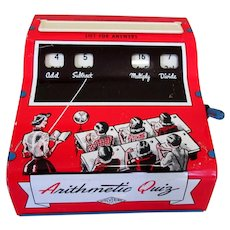 Arithmetic Quiz Toy, Vintage Metal Lithograph