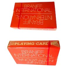 Vintage Braniff Playing Cards, Unopened Mint