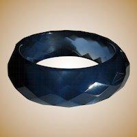 Lucite Bangle, Vintage Diamond Faceted Bracelet