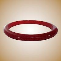 Vintage Bakelite Bracelet, Red Bangle