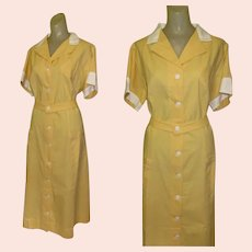 Vintage Waitress Uniform, Angelica, Large, Halloween 1950's