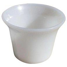 Fire Kind Votive, Vintage Milk Glass