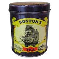 Boston Tea Company Tin, Vintage Jeremiah Jacobs