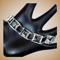 Crystal Bracelet, Art Deco 1920's Vintage Link