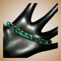 Deco Rhinestone Bracelet, Crystal In Line Link