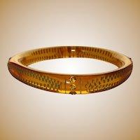 Celluloid Sparkle Bracelet, Applejuice Rhinestone Bangle