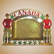 Vintage Canadian Mountie Tray, Vanity Trinkets