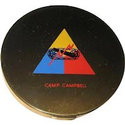WWII Military Compact, Army Camp Campbell, Kentucky