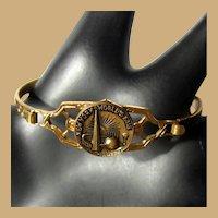 1939 New York World's Fair Bracelet, Sphere & Trylon, Filigree