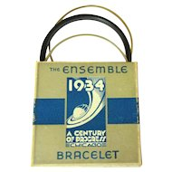 Vintage Bakelite Bracelet, Chicago Worlds Fair, Orig. Box