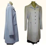 Vintage Tahari Coat, Tailored Spring Blue