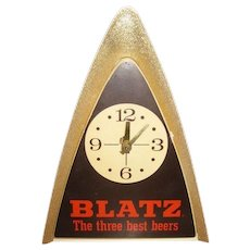 Blatz Beer Light & Clock Runs, Vintage Back Bar