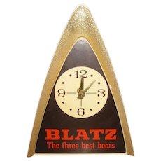 Blatz Beer Light & Clock Runs, Vintage Back Bar