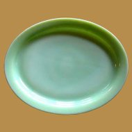 Fire King Jadeite Platter, Glass Restaurant Ware / Small