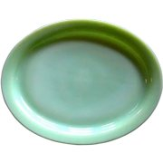 Fire King Jadite Platter, Glass Restaurant Ware / Small