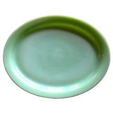 Fire King Jadite Platter, Glass Restaurant Ware / Small