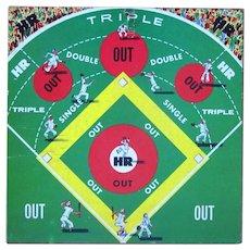 Baseball Game Board, Vintage 50's