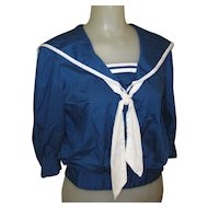 Vintage Sailor Blouse, 1940's or 1950's