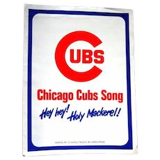 Hey Hey, Holy Mackerel, Cubs Sheet Music