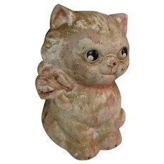 Hubley Cast Iron Cat / Kitten Still Bank, Vintage 1930's