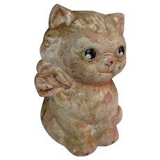 Hubley Cast Iron Cat / Kitten Still Bank, Vintage 1930's