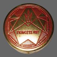 Princess Pat Compact, Vintage Deco Rouge