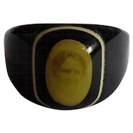 Celluloid Prison Ring, Mourning Photo