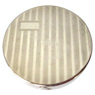 Art Deco Rouge Compact, Vintage Etched