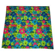 Vintage Fabric, 1960's Flower Power