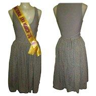 Jitterbug Skirt, Cotton Knife Pleated Vintage Smythe