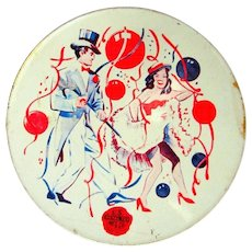 Vintage Noise Maker,NYE Tin Lithograph 40's