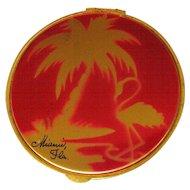 Vintage Miami Compact, Flamingo