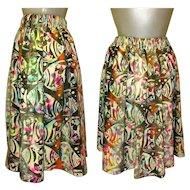 Vintage Fish Skirt, Batik Festival Grunge