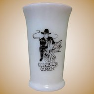 Hopalong Cassidy Milk Glass, Hazel Atlas, 40's