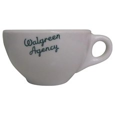 Walgreen Agency Coffee Cup, Restaurant Ware, 1951