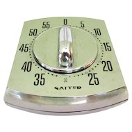 Vintage Kitchen Timer, Mid Century Mechanical Salter