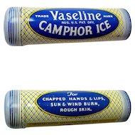 Vaseline Camphor Ice Tin, Vintage Unused