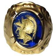Faux Intaglio Ring, Roman Soldier