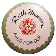 Ruth Manners Face Powder Box, Vintage NOS