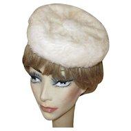 Pill Box Hat, Vintage Faux Fur
