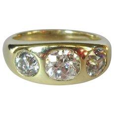 Antique Diamond Ring, 2.4 Cts, 14K, Engagement, Cushion Cut