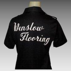 Vintage Bowling Shirt, 1960's Hilton, Ladies