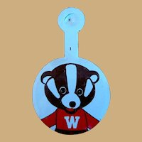 Bucky Badger Button, Vintage 1950's