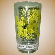 Davy Crockett Glass, Vintage Child's