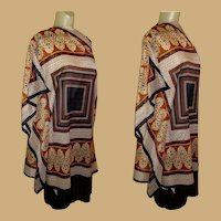 Vintage Beach Poncho by Cole of California