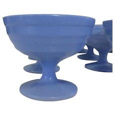 Moderntone Platonite Sherbet Cup, Hazel-Atlas Glass Blue