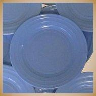 Moderntone Platonite Salad Plate, Hazel-Atlas Glass Blue