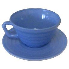 Moderntone Platonite Coffee Cup, Hazel-Atlas Glass Blue