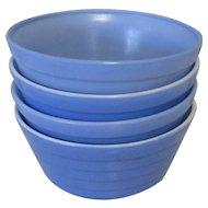 Moderntone Platonite Cereal Bowl, Hazel-Atlas Glass Blue