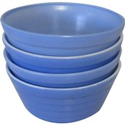 Moderntone Platonite Cereal Bowl, Hazel-Atlas Glass Blue